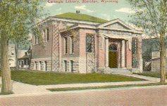 Sheidan, WY, Carnegie library, no longer extant.