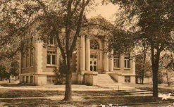 Albertype postcard of NCC's Carnegie library.
