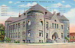 Mabel Tainter Memorial Library, a Romanesque building in Menomonie, WI
