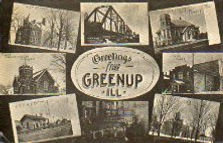 Multiview postcard of Greenup, IL
