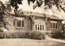 Tyndall, SD Carnegie library in Prairie style