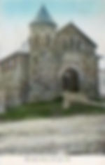 Ogunquit, ME library. Image in vertical format.