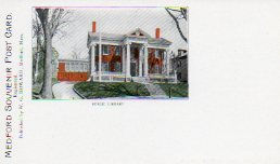 'Pioneer' postcard of Medford, MA public library
