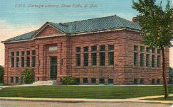 Sioux Falls' red sandstone Carnegie library building.