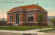 Hibbing, MN Carnegie library, demolished 1953.