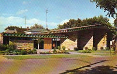 Public Library, Marshfield, WI, in mid-century modern design