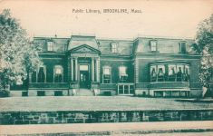 Brookline, MA's first public library