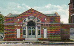 Building in Media, PA, likely to have been the public library, per caption