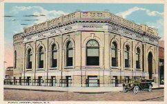 Fargo, ND public Carnegie library postcard.