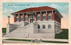 McAlester, OK Carnegie library, with 2nd floor entrance