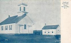 A church and smaller library of Moosup Valley, RI.