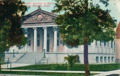 Ontario, CA library postcard by ZIM.