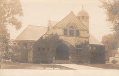 Dedham, MA public library, in Romanesque style