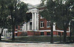 E.C. Kropp postcard of North Central College's Carnegie library.