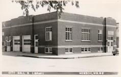 Mondovi, WI City Hall & Librar, now Public Library
