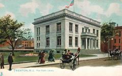 Tuck's postcard of Trenton, NJ public library