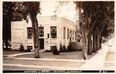 Nekoosa, WI library; a WPA project.