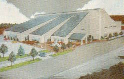 ca. 1987 drawing of the Anderson, IN public library