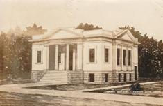 Architect's design for the Pawnee City, NE Carnegie library
