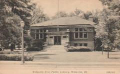 Wilmette, IL Carnegie library, built in Prairie style