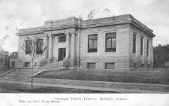 Bedford, Indiana's Carnegie library, in monochrome