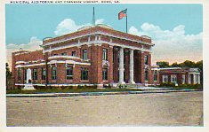Municipal Auditorium (foreground) and Carnegie library (background), Rome, GA