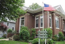 Galva, IL Carnegie library, photographed and copyright by the author, Judith Aulik