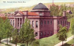 Duluth, MN Carnegie library postcard.