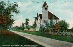 Walker Library of Bridgton Highlands, ME