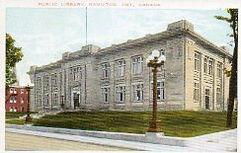 Hamilton, Ontario Carnegie library