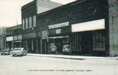 Downtown Victor, IA featuring municipal library