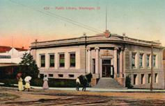 Waukegan, IL Carnegie library, in corner style