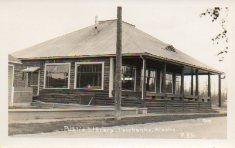 Fairbanks, AK public library, cabin style.