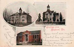 Hayward's High School, Court House, and Carnegie Library