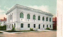 Oakland Carnegie library, one of few earthquake surviving libraries.