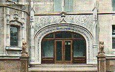 Entrance to the Albright Memorial Library, Scranton, PA