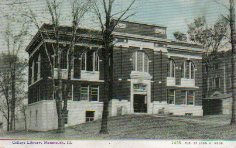 C.U. Williams postcard of the Monmouth College Carnegie Library