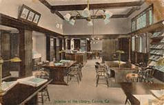 Interior view of the Covina, CA Carnegie library.