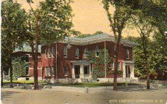 Concord, NH first library building, replaced and demolished