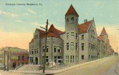 Braddock, PA Carnegie library, built on steep hill