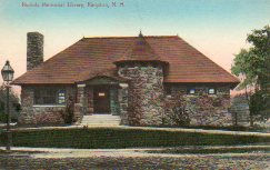 Stone building houses the Nichols Memorial Library of Kingston, NH