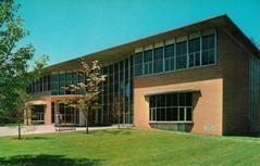 Photochrom postcard of Montclair, NJ public library