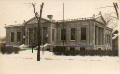 Real Photo postcard of Evanston, IL Carnegie library