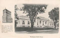Wasnington DC Carnegie library, postcard published by the Washinton Evening & Sunday Star