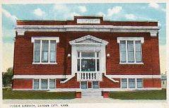 Garden City, KS Carnegie library, modified type A plan