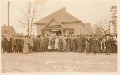 Dedication of Webster Library, Niagara N.C., Jan. 23-1912