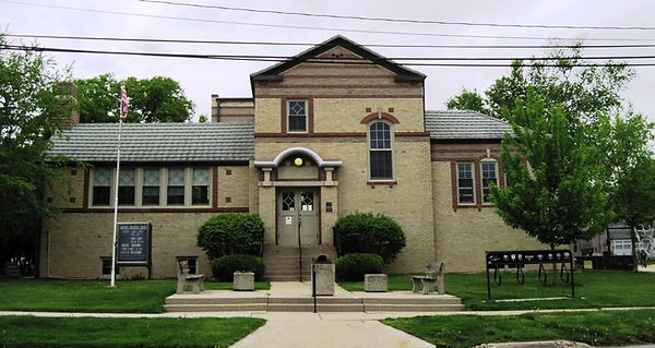 Oregon, IL Carnegie library, photo by the author, taken in May, 2026.