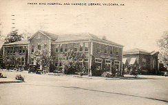 Frank Bird Hospital (foreground) and Carnegie Library (background, R), Valdosta, GA