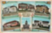 Clockwise: Green Lake Branch, West Seattle Branch, Ballard Branch, University Branch, Georgetown Branch & City Hall, and Yesler Branch