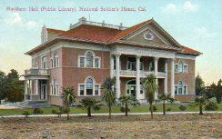 Sawtelle National Soldier's Home, AKA Markham Hall, in Wesl Los Angeles